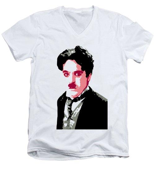 Charlie Chaplin Men's V-Neck T-Shirt