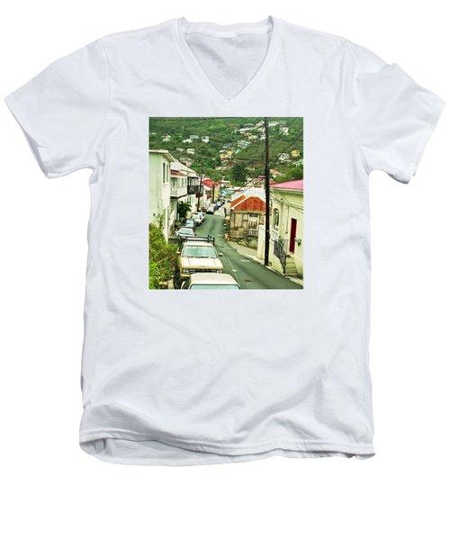 Charlotte Amalie Neighborhood Men's V-Neck T-Shirt
