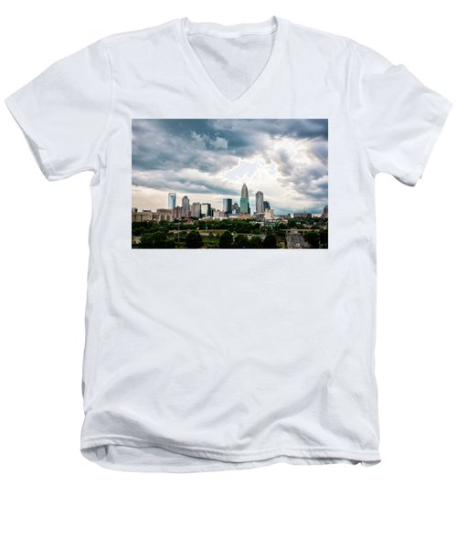 Men's V-Neck T-Shirt featuring the photograph Charlotte In The Clouds by Phyllis Peterson