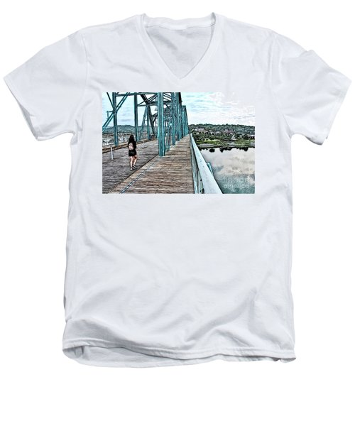 Chattanooga Footbridge Men's V-Neck T-Shirt