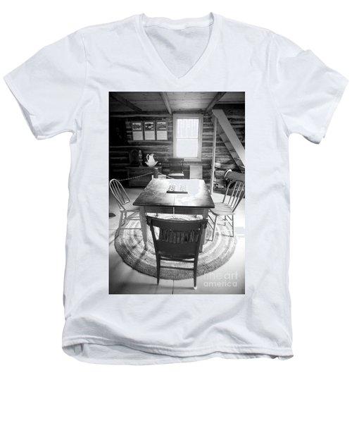 Checkers Men's V-Neck T-Shirt