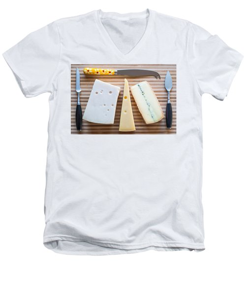 Men's V-Neck T-Shirt featuring the photograph Cheese Board by Ari Salmela