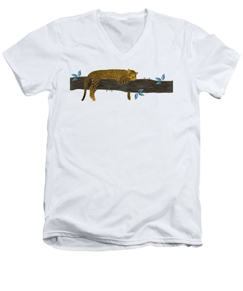 Cheetah Chill Men's V-Neck T-Shirt