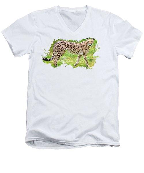 Cheetah Canvas Print,photographic Print,art Print,framed Print,greeting Card,iphone Case, Men's V-Neck T-Shirt