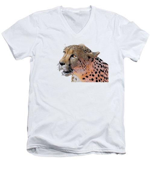 Cheetah Golden Eye Men's V-Neck T-Shirt