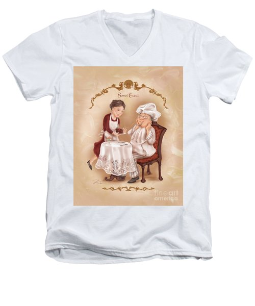 Chefs On A Break-sweet Treat Men's V-Neck T-Shirt