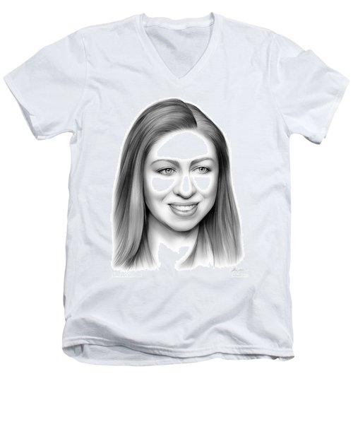 Chelsea Clinton Men's V-Neck T-Shirt