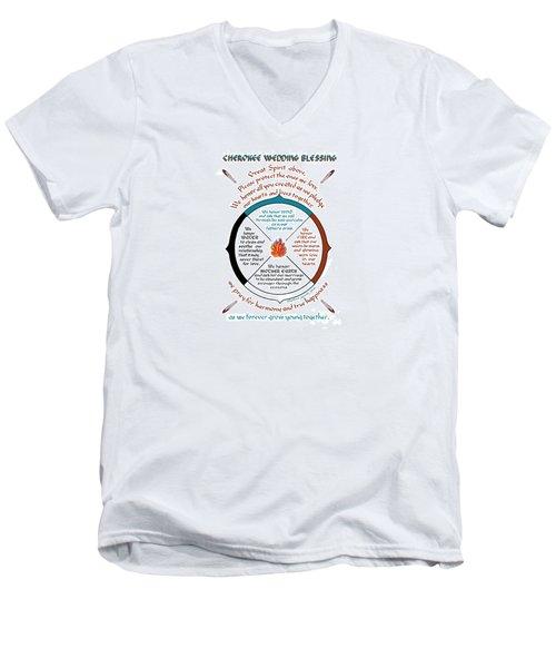 Cherokee Wedding Blessing Men's V-Neck T-Shirt