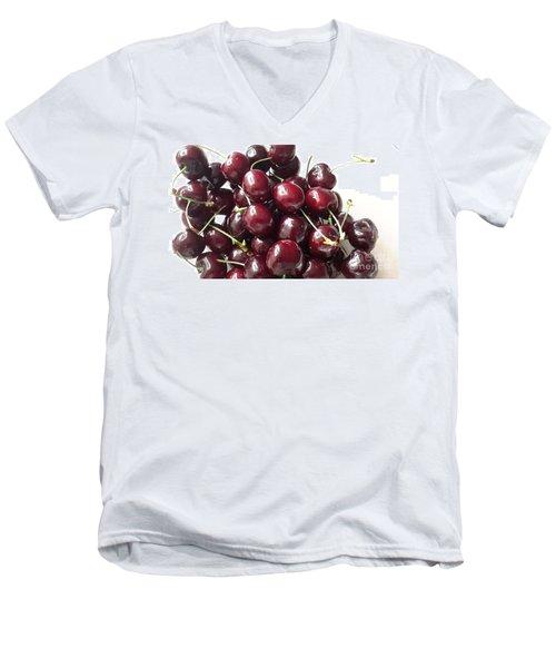 Cherries Men's V-Neck T-Shirt