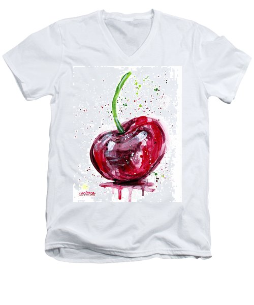Cherry 2 Men's V-Neck T-Shirt