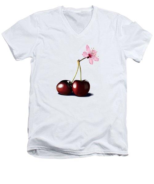 Cherry Blossom Men's V-Neck T-Shirt