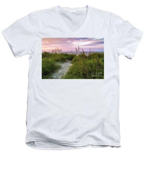 Cherry Grove Beach Scene Men's V-Neck T-Shirt