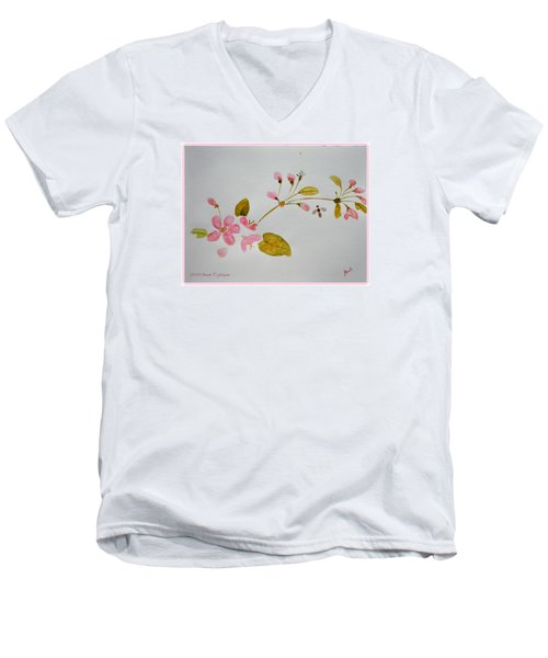 Cherry Pink Men's V-Neck T-Shirt