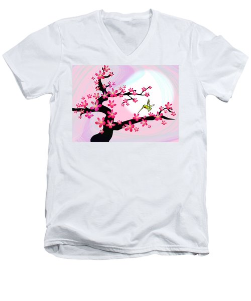 Cherry Tree Men's V-Neck T-Shirt