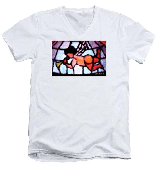 Cherub Art  Men's V-Neck T-Shirt by Juls Adams