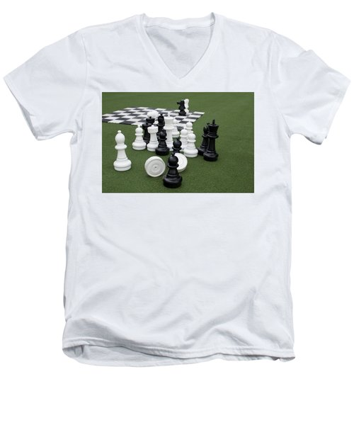Chess Pieces Men's V-Neck T-Shirt