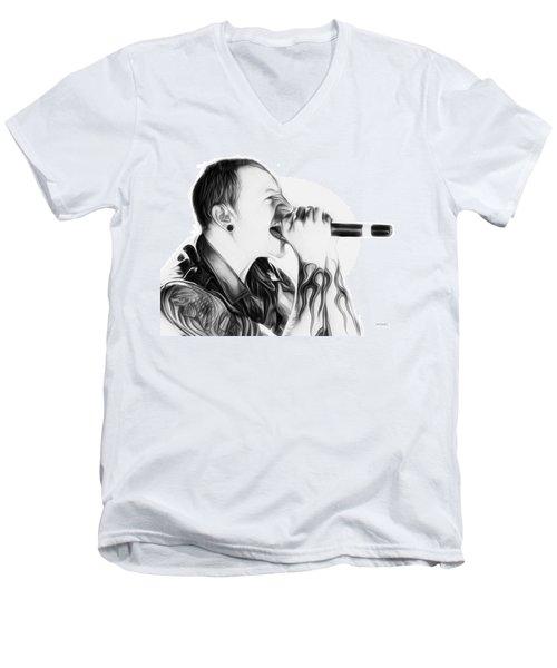 Chester Bennington Illustration  Men's V-Neck T-Shirt