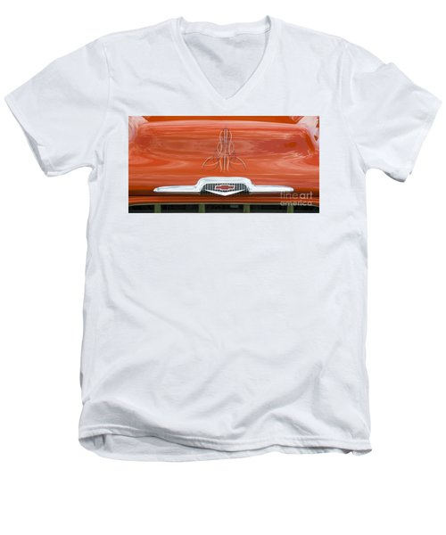 Chevrolet 30-1956 Hydramatic 3100 Men's V-Neck T-Shirt by Wendy Wilton