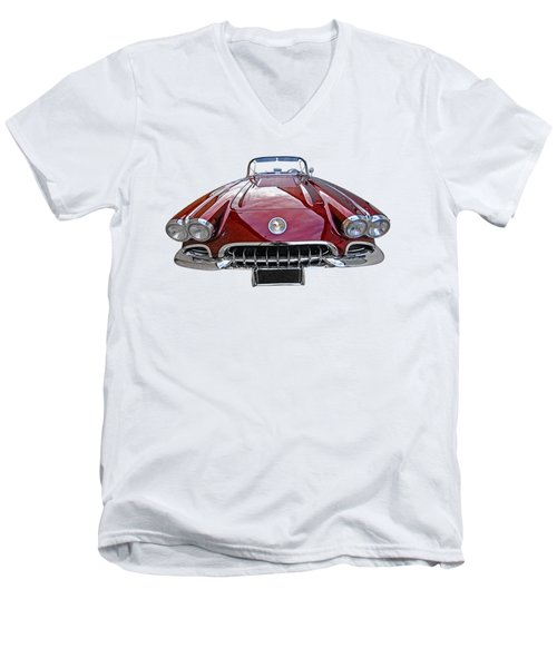 Chevrolet Corvette C1 1958 Head On Men's V-Neck T-Shirt