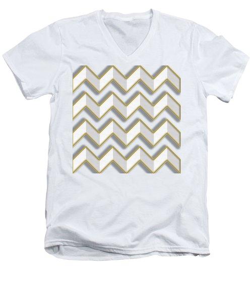 Chevrons - Gold Edges Men's V-Neck T-Shirt