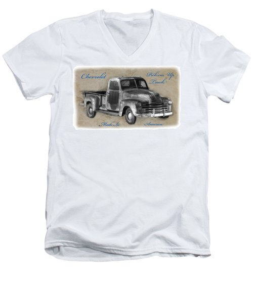 Chevy Pickup Truck T-shirt Men's V-Neck T-Shirt