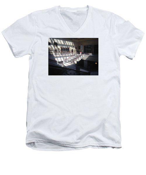 Chicago Art Institude Men's V-Neck T-Shirt by Paul Meinerth