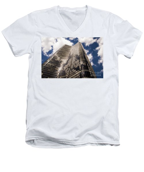 Men's V-Neck T-Shirt featuring the photograph Chicago Building by Zawhaus Photography