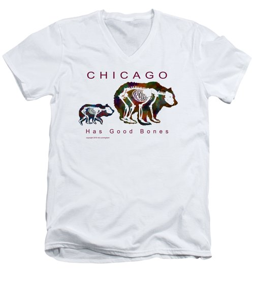 Chicago Has Good Bones Watercolor Men's V-Neck T-Shirt