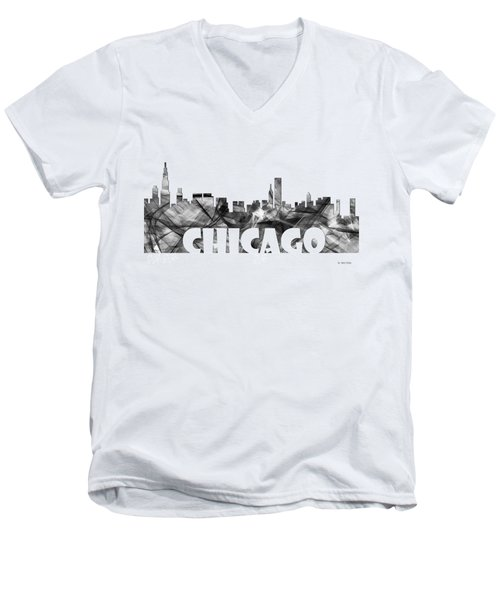 Chicago Illinios Skyline Men's V-Neck T-Shirt