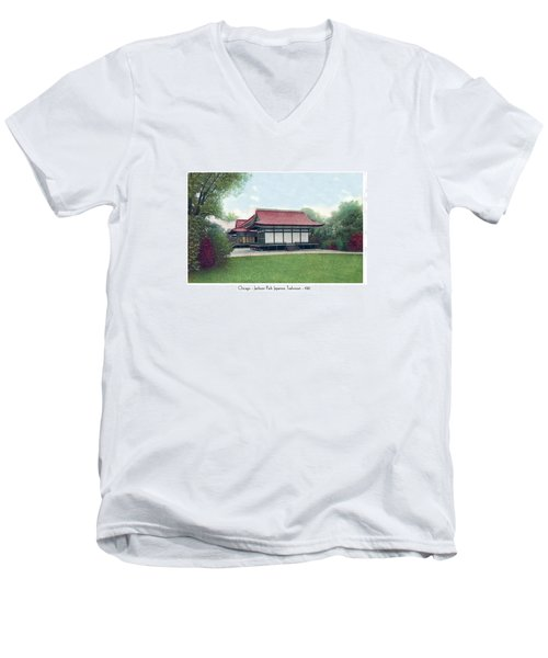 Chicago - Japanese Tea Houses - Jackson Park - 1912 Men's V-Neck T-Shirt
