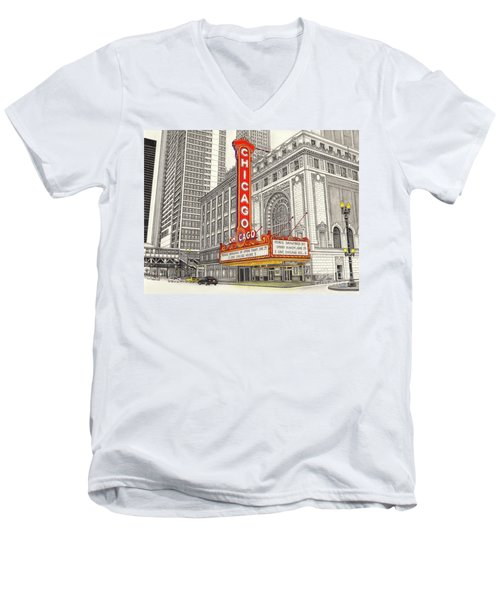 Chicago Theater Men's V-Neck T-Shirt