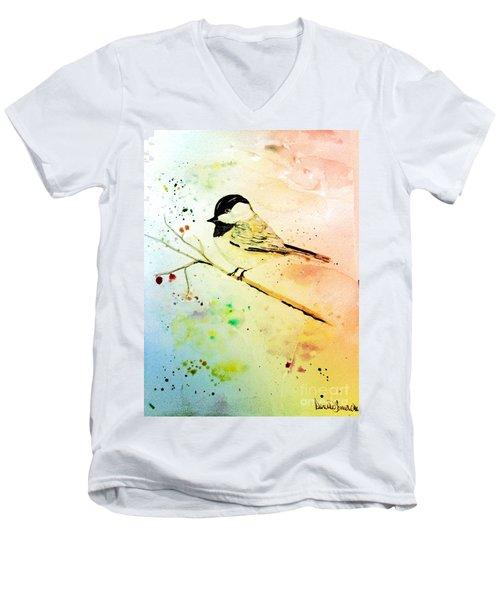 Chick-a-dee Men's V-Neck T-Shirt