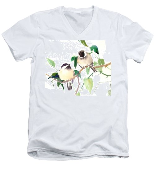 Chickadees Men's V-Neck T-Shirt