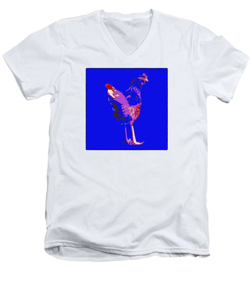 Chicken With Tall Legs Men's V-Neck T-Shirt