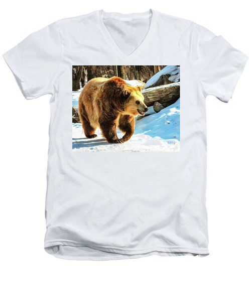 Chief Walking Bear Men's V-Neck T-Shirt