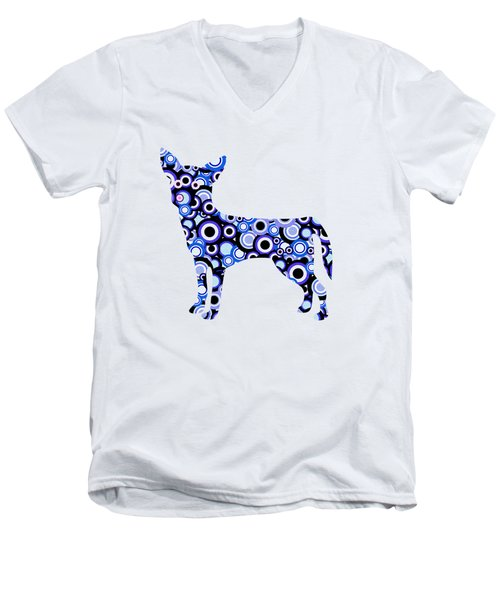 Chihuahua - Animal Art Men's V-Neck T-Shirt