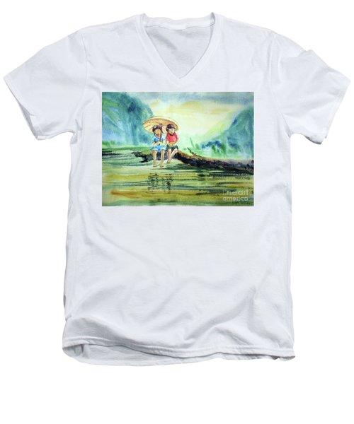 Childhood Joys Men's V-Neck T-Shirt