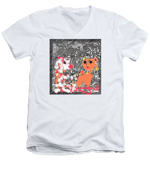 Children Art Friends Men's V-Neck T-Shirt