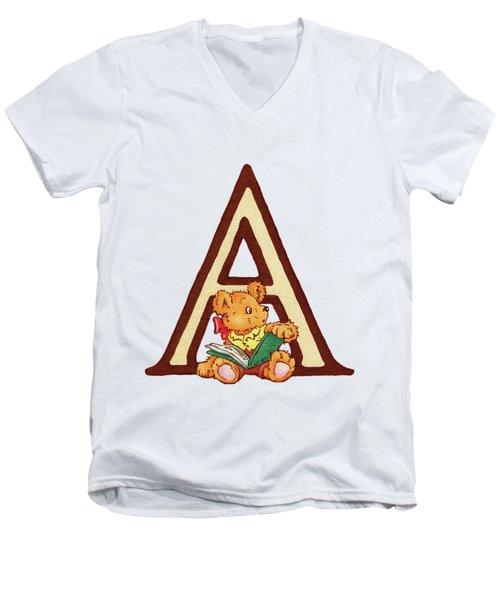 Children's Letter A Men's V-Neck T-Shirt