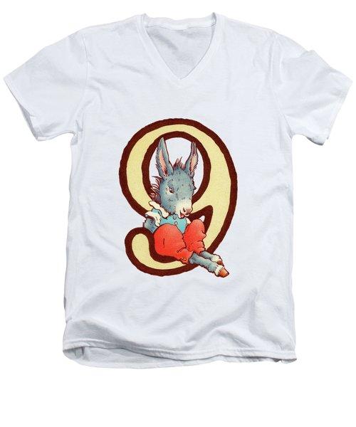 Children's Number 9 Men's V-Neck T-Shirt