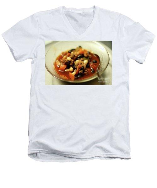 Chili Men's V-Neck T-Shirt by Joseph A Langley