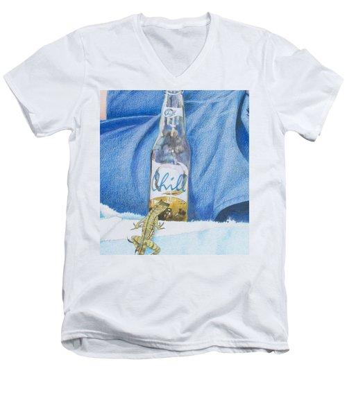 Chill Men's V-Neck T-Shirt by Constance DRESCHER