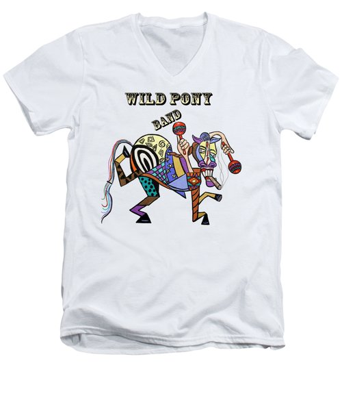 Chilli Peppers Wild Pony Men's V-Neck T-Shirt