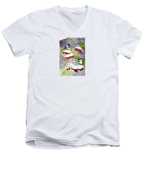 Chilly Chickadees Men's V-Neck T-Shirt