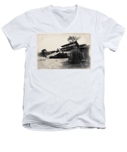 China #0640 Men's V-Neck T-Shirt by Andrey Godyaykin