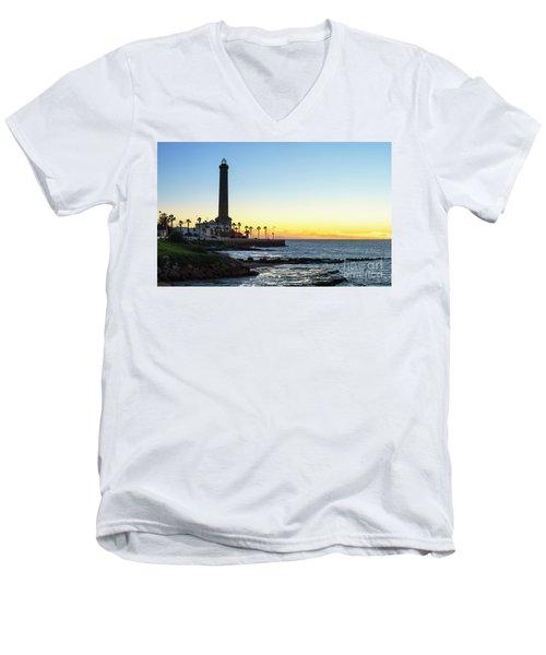 Chipiona Lighthouse Cadiz Spain Men's V-Neck T-Shirt