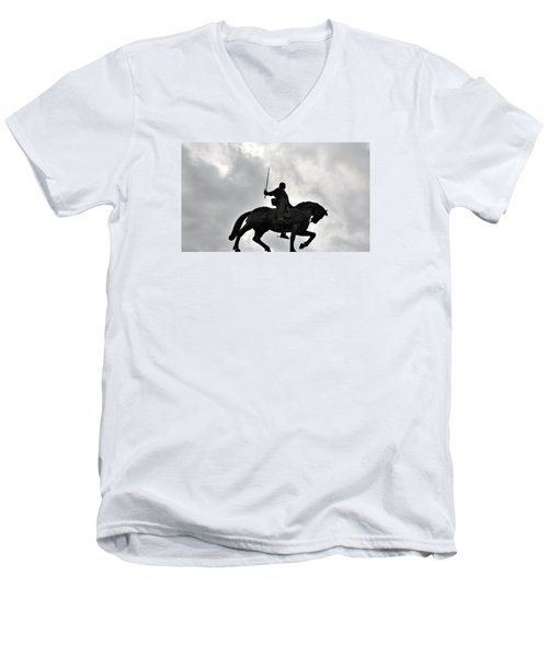 Men's V-Neck T-Shirt featuring the photograph Chivalry by Marwan Khoury