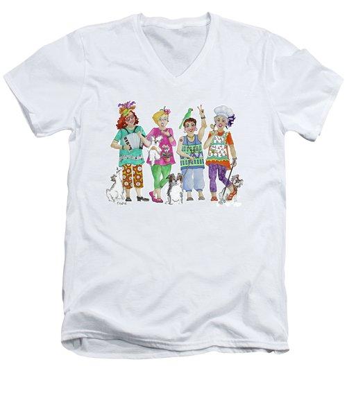 Chix Men's V-Neck T-Shirt by Rosemary Aubut