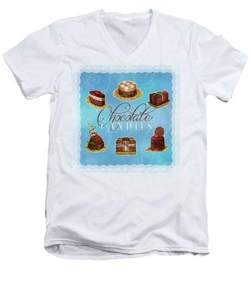 Chocolate Candies Men's V-Neck T-Shirt