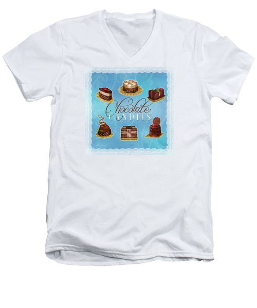 Chocolate Candies Men's V-Neck T-Shirt